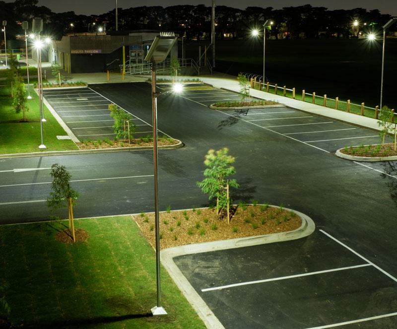 smart solar public lighting for car park