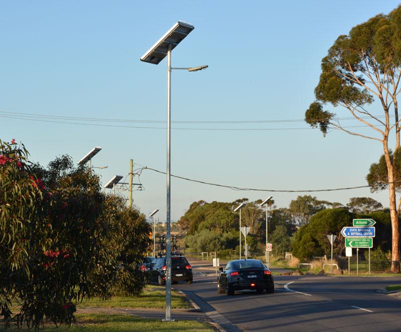 split type integrated solar LED light