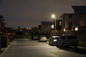solar shared pathway lighting for residential area
