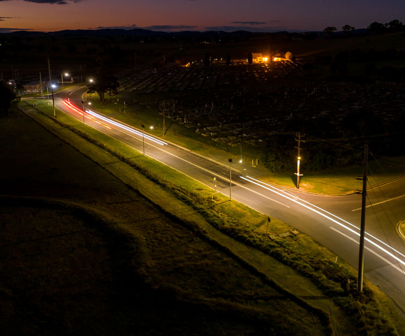 AE6 series off-grid street lighting