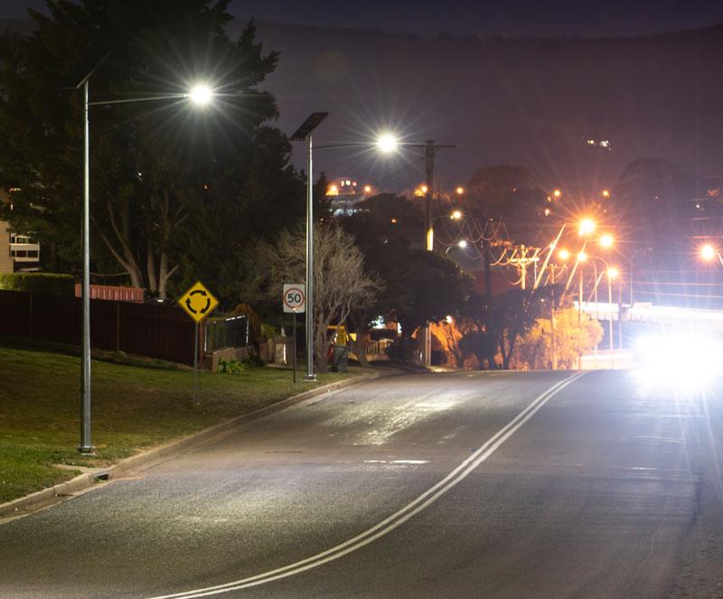 smart solar public lighting off-grid street lighting