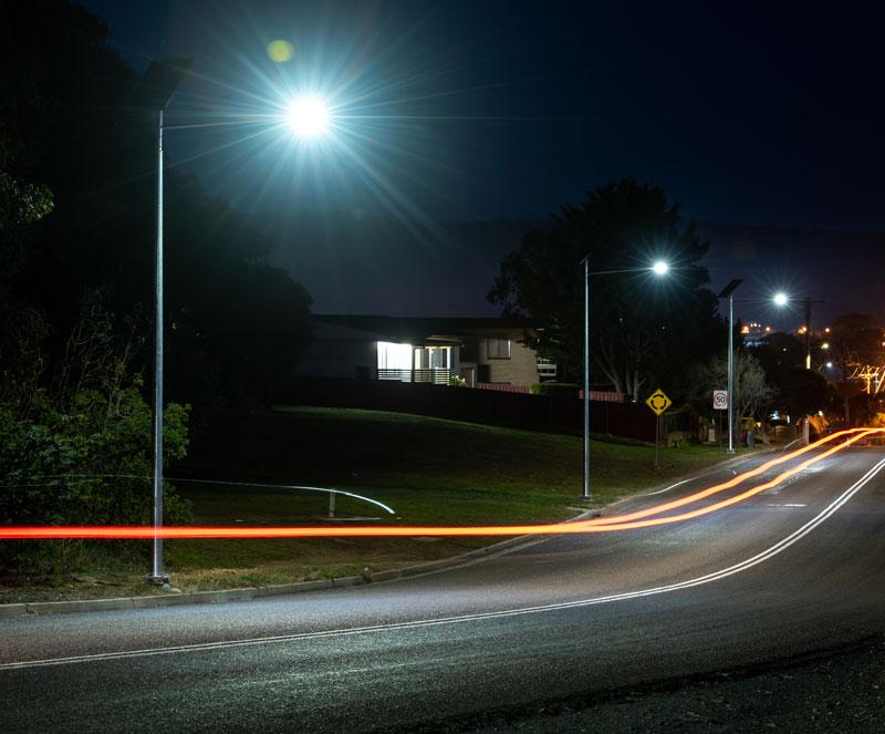 eco-friendly off-grid street lighting