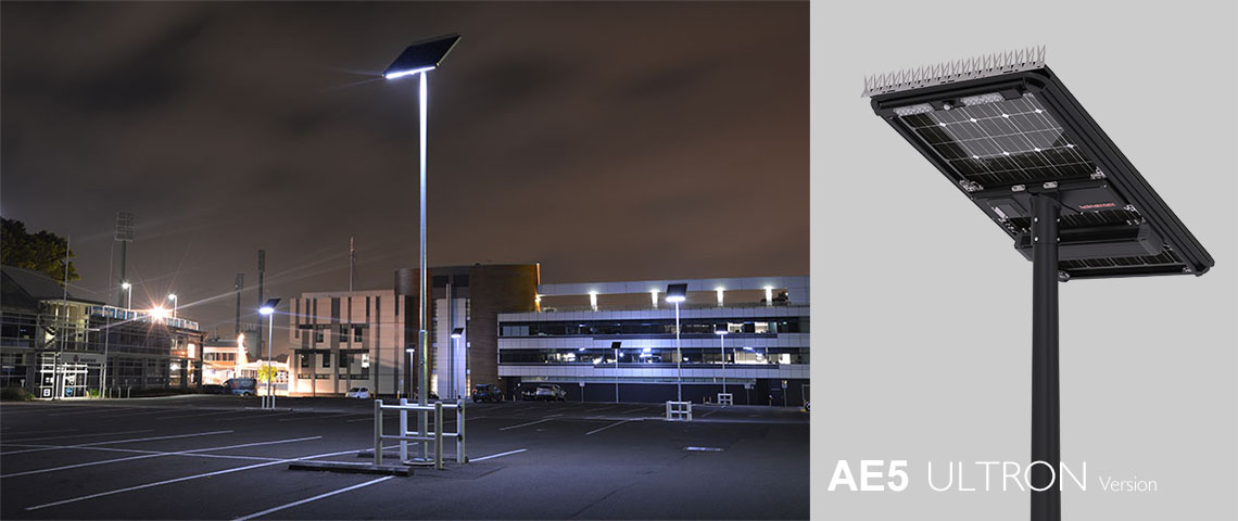 solar powered led light for car park