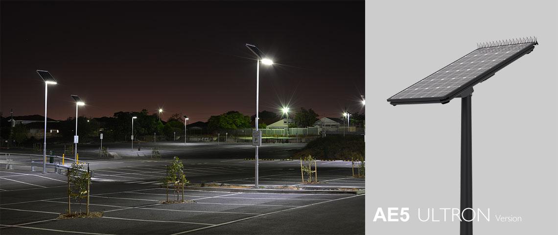 solar powered led light for parking lot
