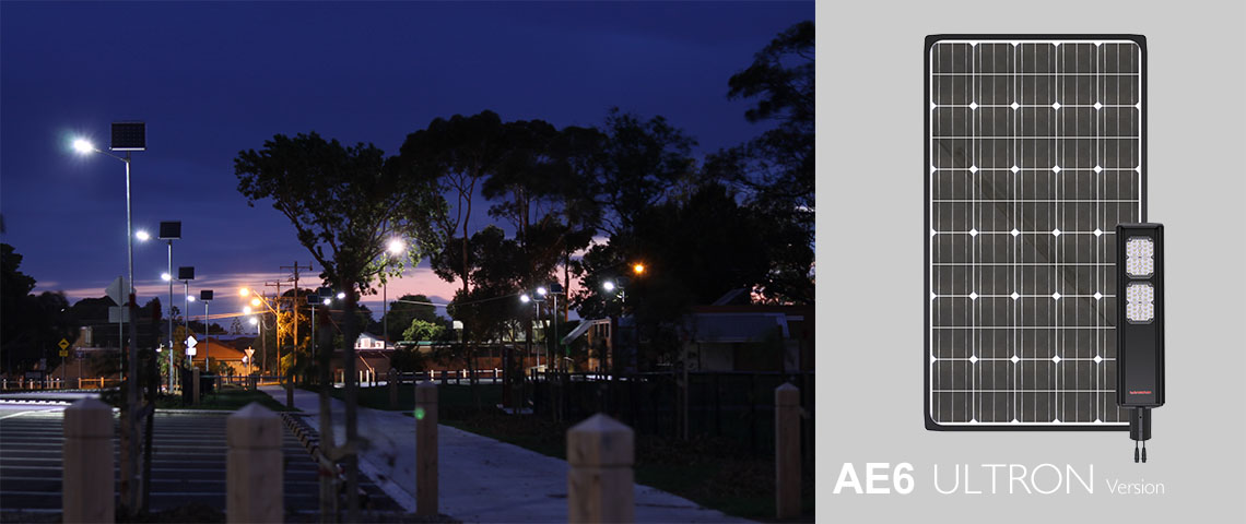 AE6 solar powered light