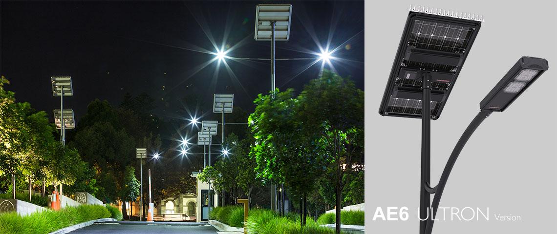 public solar powered light