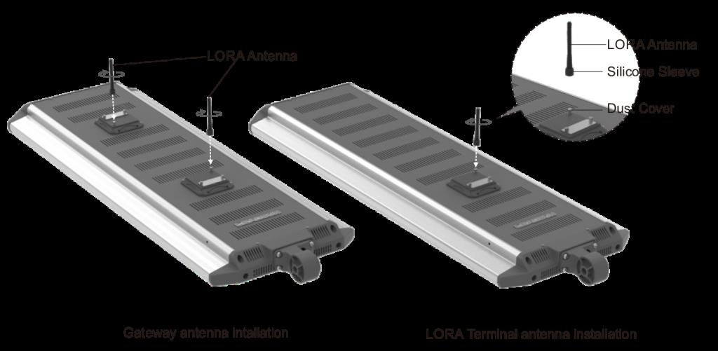 solar street lighting system installation