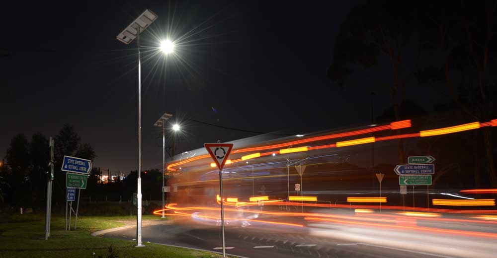 eco-friendly solar road lighting